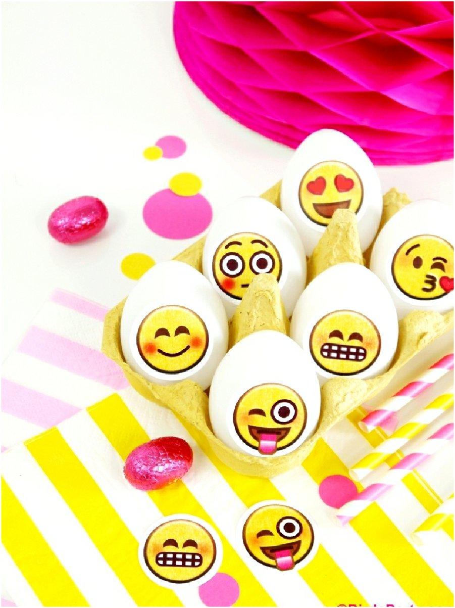 DIY Oeufs de Pâques Emoji