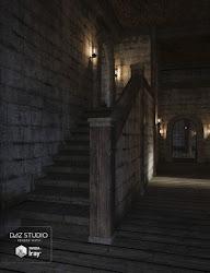 castle hallway daz 3d studio daz3d