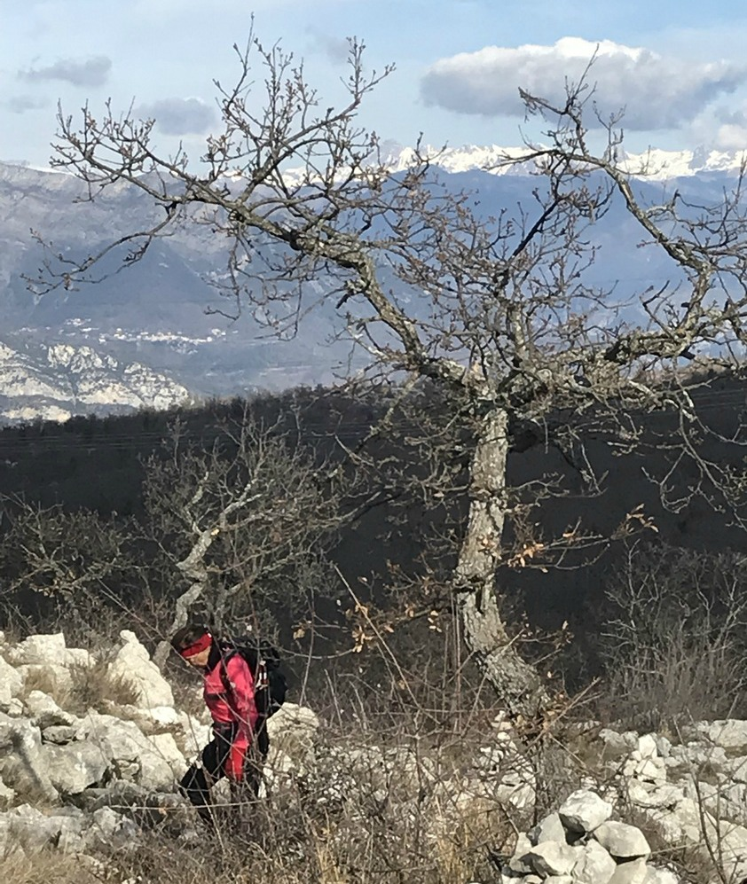 Wintry hike to Mouton d'Anou