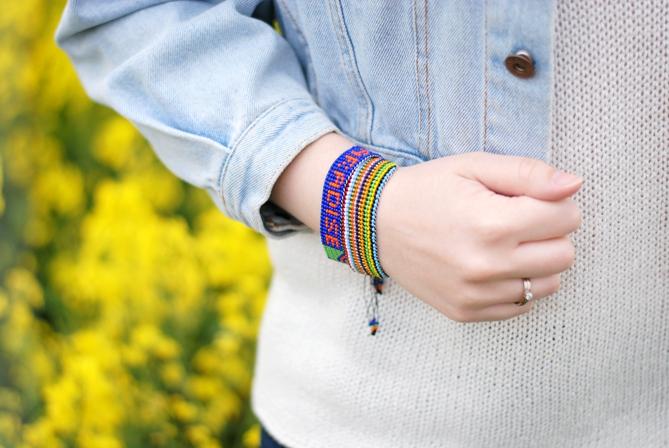 multicoloured Tommy Hilfiger pearl bracelets