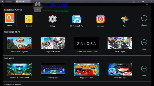 Screenshot Bluestacks App Player