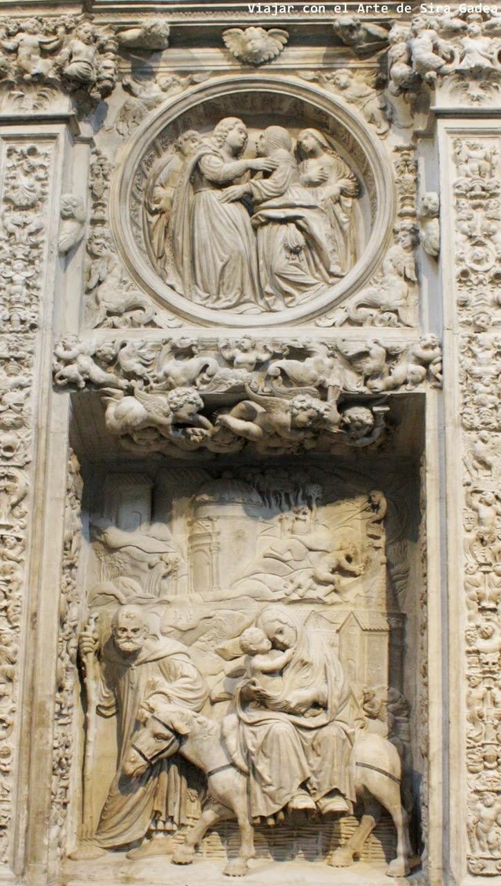 Trascoro Catedral Ávila Huida a Egipto
