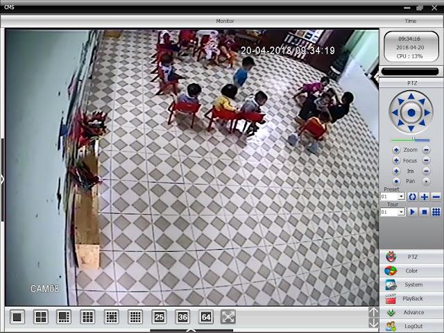 Hướng dẫn cài đặt xem camera cho phụ huynh trường mầm non Hoa Thủy Tiên Thái Bình