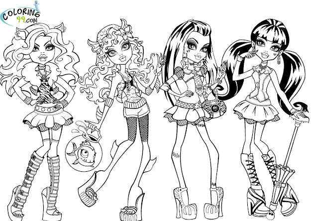 Monster High Mattel Coloring Pages  There Are Many Character In Monster  High Till Created