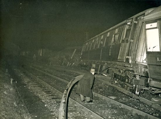 Marshmoor train derailment 1946 -  Image from the Peter Miller Collection