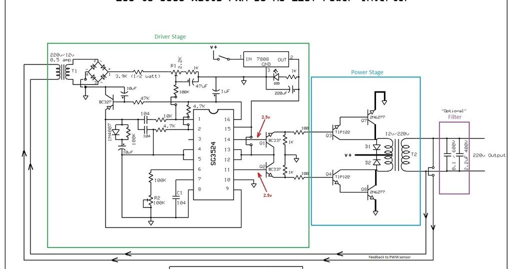 3000w Inverter Wiring Diagram Build A 250 To 5000 Watts Pwm Dc Ac 220v Power Inverter