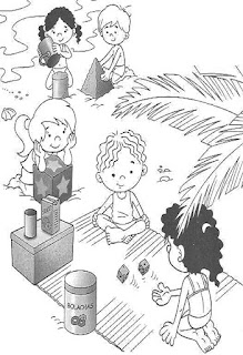 Brincadeiras crianças-castelos areia