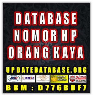 Jual Database Nomor Telphone Orang Kaya
