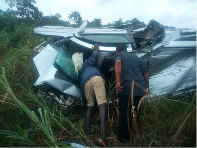 Reverend Father Involved In Ghastly Accident, Came Out Alive