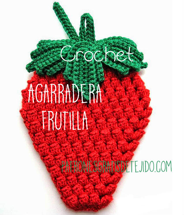 patrones de agarradera ganchillo strawberry