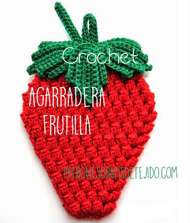 Agarradera con forma de frutilla super fácil | Crochet y Dos agujas ...