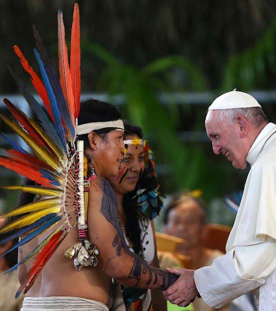 Em janeiro de 2018, o Papa Francisco I abriu o Sínodo pan-amazônico em Puerto Maldonado, Peru.