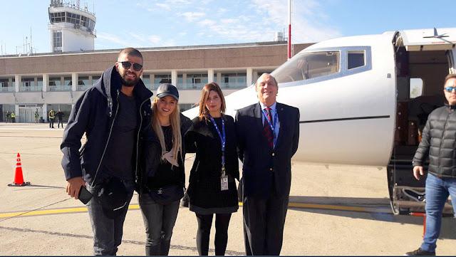 #LaBodaDeMessi Shakira y Piqué ya están en Rosario