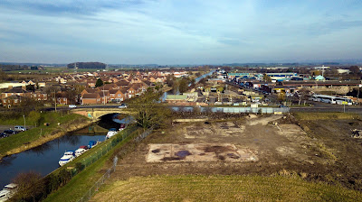 Bird's eye view of the site earmarked for the new Aldi store in Brigg - taken February 2019 by Neil Stapleton