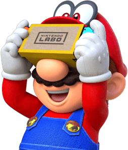 Mario Cappy Bonneter Nintendo Labo VR Kit goggles