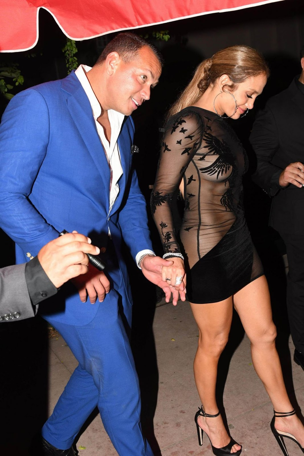 Jennifer Lopez celebrates birthday with A-Rod in a sexy, see-through dress