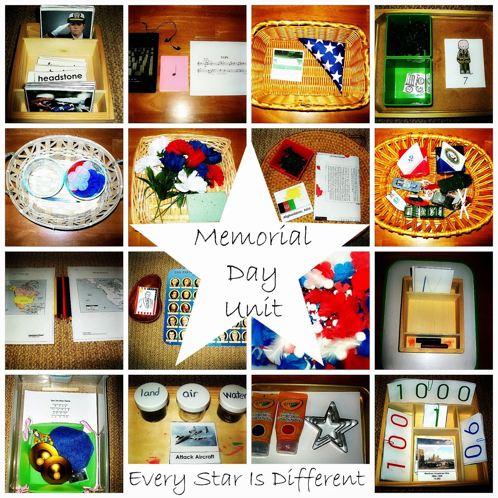 Every Star Is Different Memorial Day Activities