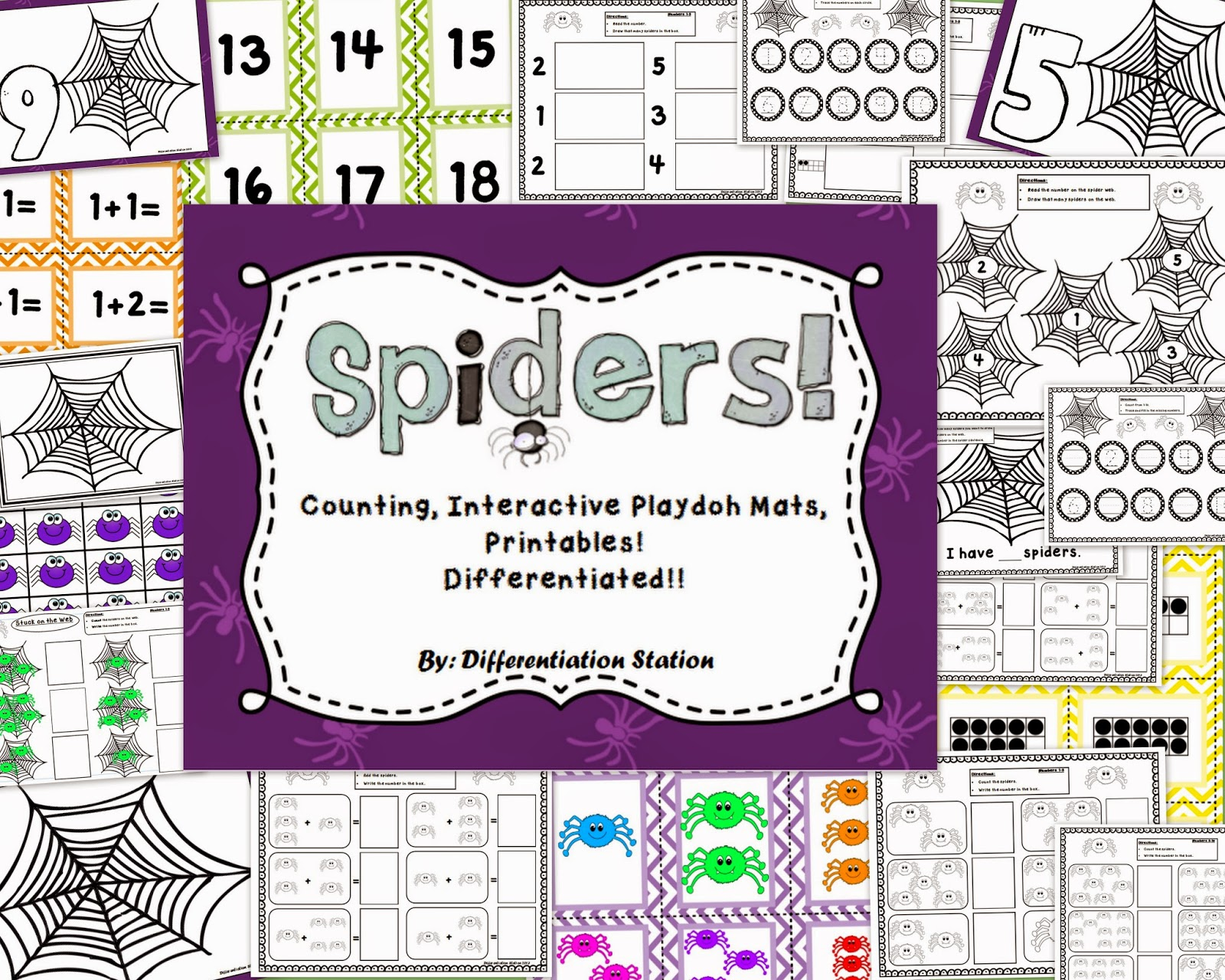 http://www.teacherspayteachers.com/Product/Spiders-Interactive-Play-Dough-Mats-Counting-Centers-and-Games-and-Printables-912821