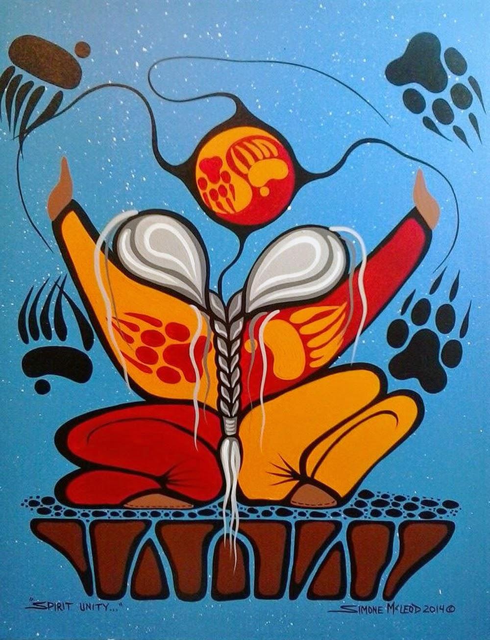 Acrylic painting by Aki-egwaniizid