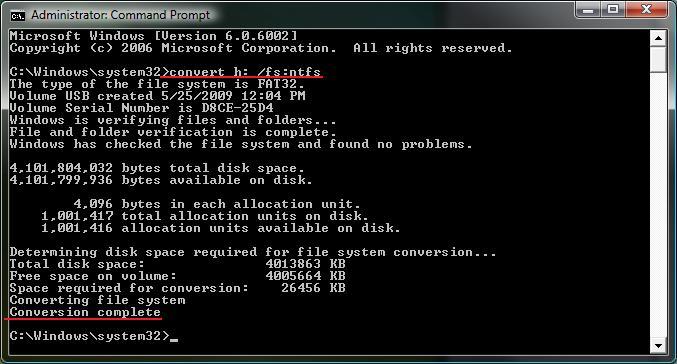 FAT32 Dosya Sistemini NTFS'ye Veri Kaybı Olmadan Çevirme