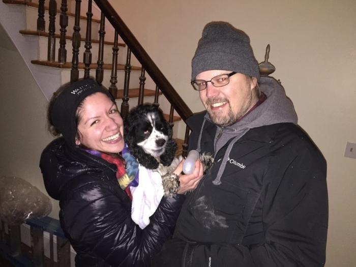 Família reencontra o seu cão
