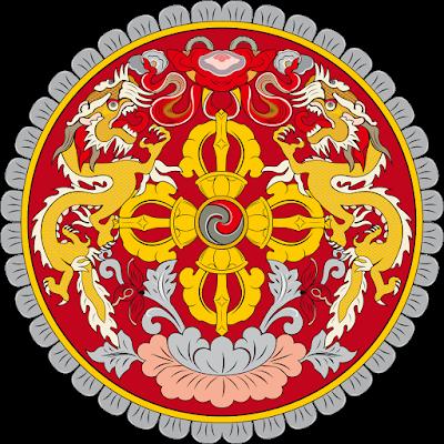 Coat of arms - Flags - Emblem - Logo Gambar Lambang, Simbol, Bendera Negara Bhutan