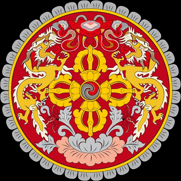 Logo Gambar Lambang Simbol Negara Bhutan PNG JPG ukuran 600 px