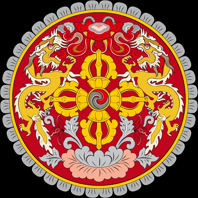 Logo Gambar Lambang Simbol Negara Bhutan PNG JPG ukuran 800 px