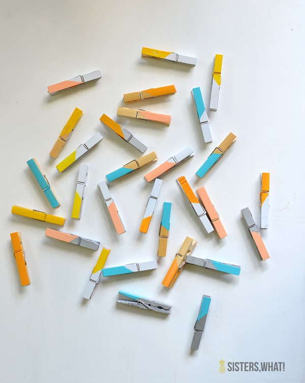 DIY color block clothes pins