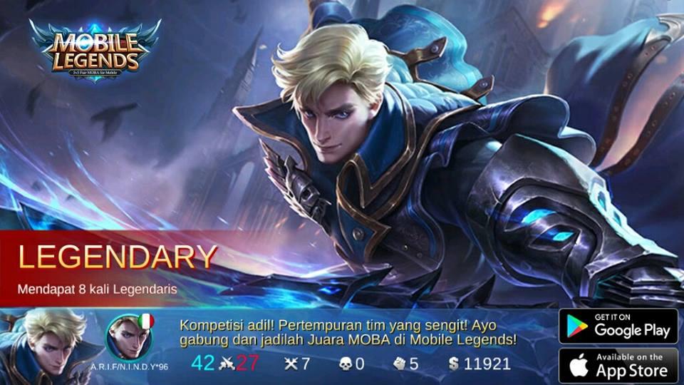 Alucard Mobile Legends Child Of The Fall Wallpaper Waktu Bermain Mobile Legends Anti Noob Putih Abu Abu