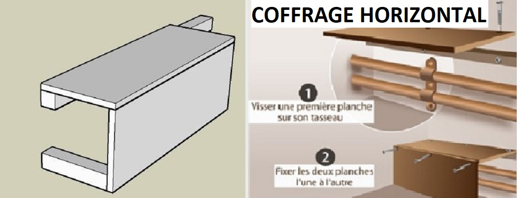 coffrage tuyauterie excellent mesures placos with coffrage tuyauterie cheap fixer les planches. Black Bedroom Furniture Sets. Home Design Ideas