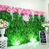 Sewa Barstool, Penyewaan Meja dan Kursi Bar: Backdrop Daun  Membuat Ruangan Segar