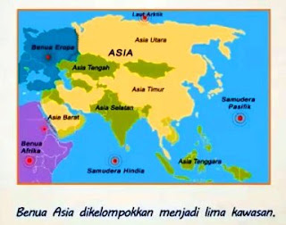 Letak, luas dan Karakateristik Region Benua Asia