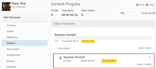 """screenshot of Class Progress tool with module expanded to show topic tagged as """"Downloaded"""""""