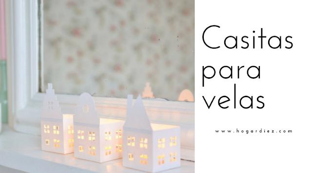 Una casa decorativa para tus velas de led