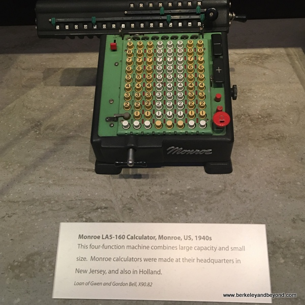 Monroe LAS-160 calculator from 1940s at Computer History Museum in Mountain View, California