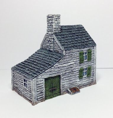 ACW Farmhouse with Carriage Shed by Battlescale Wargame Buildings