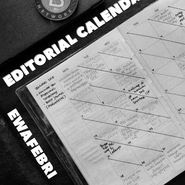 CONTOH EDITORIAL CALENDAR PADA BULLET JOURNAL