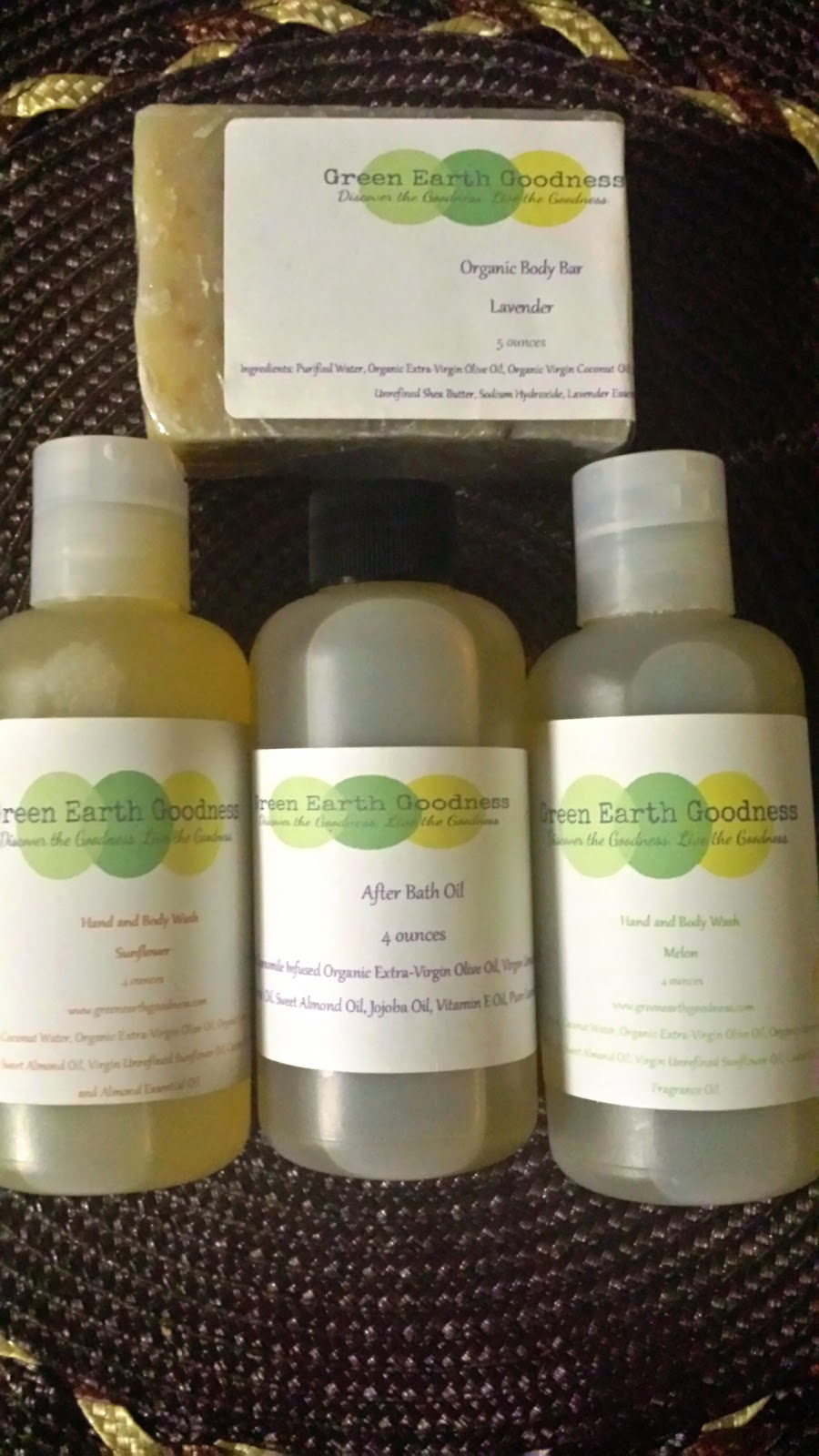 Natural Organic Skin Care Products- Green Earth Goodness Review and Giveaway Ends 4/9