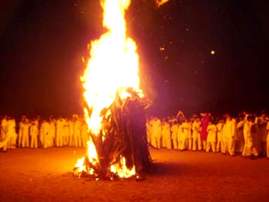 Holi - The Evening of Bonfires