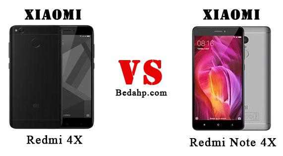 Perbedaan Redmi 4X dan Note 4X