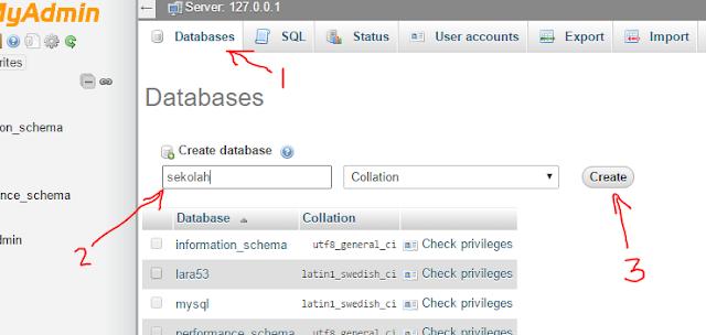 Belajar PHP dan MySQL Membuat Database Dengan PhpMyAdmin