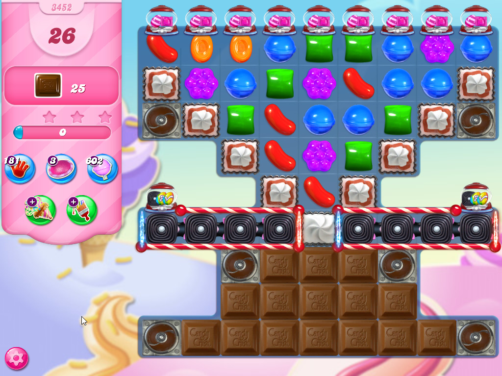 Candy Crush Saga level 3452