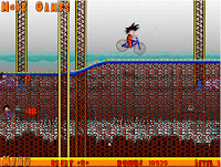 goku sobre la bici