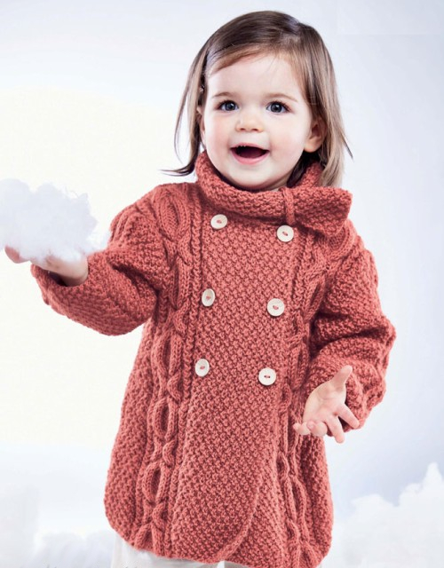 Girl's Cable Coat - Free Pattern