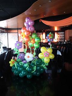 Balloon flower garden party decoration