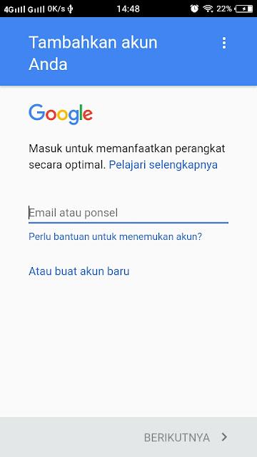 Membuat akun Google Baru