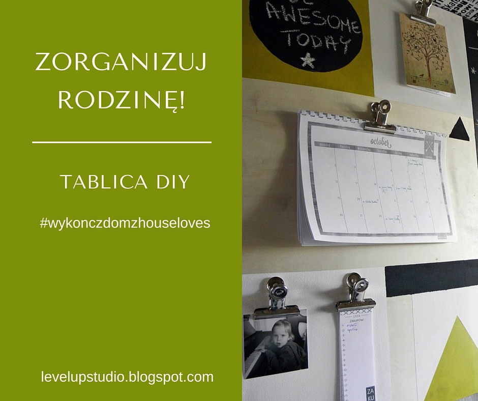 organizacja planner rodzinny | DIY tablica organizer | Level up! studio