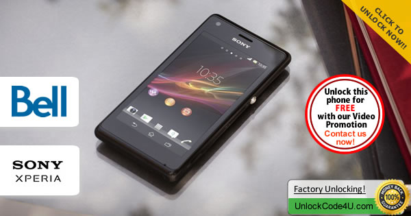 Factory Unlock Code Sony Xperia M from Bell