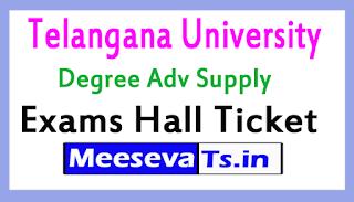 Telangana University Degree Adv Supply Exams Hall Ticket